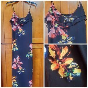 Womens Mossimo Floral Maxi Ruffle Dress